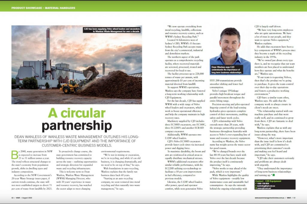 Waste Management Review magazine | Wanless and CJD partnership